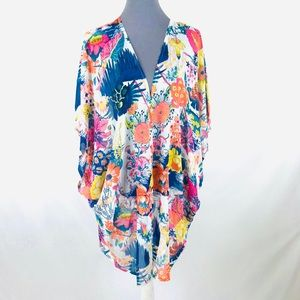 Brandless 1X/2X floral sheer light weight cover up
